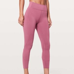 Lululemon In Movement 7/8 Tight Moss Rose